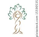 emblem, yoga, tree 15590535