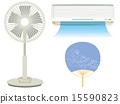 扇子 冷却器 空调机 15590823