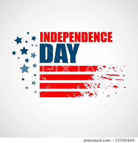 Stock Illustration: Independence Day Background. Abstract grunge vector