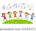 孩子們跳 15592571