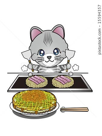 okonomiyaki, cat, pussy 15594357