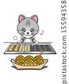 타코야키를 굽는 고양이 15594358