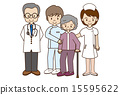 Medical staff and the elderly 15595622