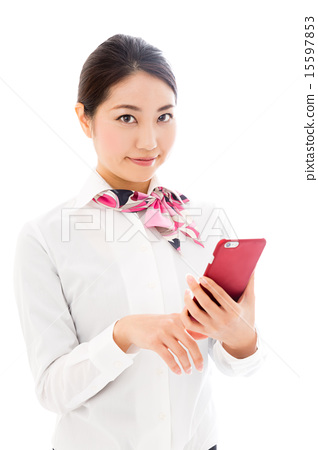 Business woman white back image 15597853