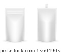 white packaging foil for ketchup or sauce vector 15604905