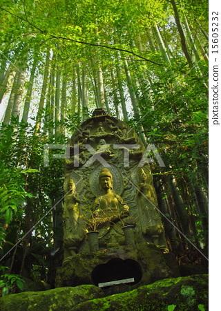石佛像 佛像 竹子 15605232