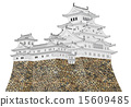 himeji castle, hakuro-jo, white egret castle 15609485