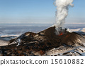 Nature of Kamchatka: eruption Tolbachik Volcano 15610882