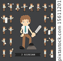 Set of businessman character 15611201