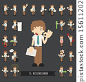 Set of businessman character 15611202
