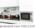 Kitchen cabinets with coffee corner  15611314