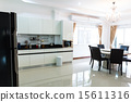 Kitchen cabinets with coffee corner 15611316
