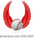 Flying baseball 15611565