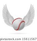 Flying baseball 15611567