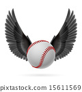 Flying baseball 15611569
