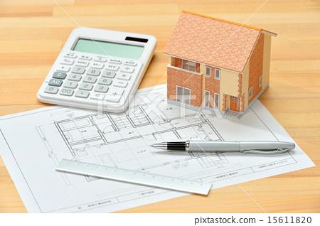 建築模型,房子模型,抵押的圖像 15611820