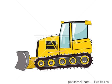 Bulldozer. Major Construction. Vector Illustration. 15616370
