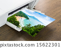 Printer with paper of Tropical island 15622301