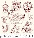 Amusement Park Sketch 15623418