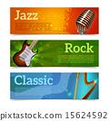 musical, set, banner 15624592