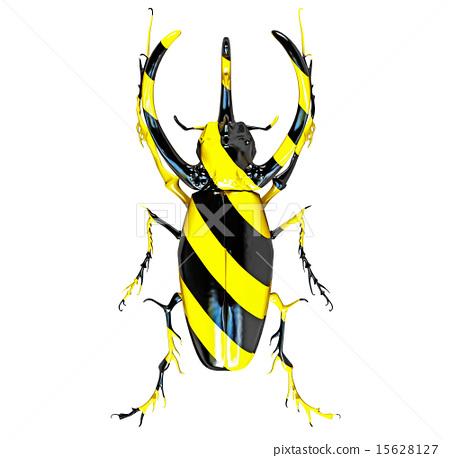 danger color beetle 15628127
