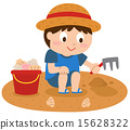 kid, clamming, shellfish gathering 15628322