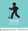 Black Graphic Symbol Yoyo Player 15629314