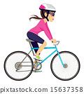 vector, triathlon, girl 15637358