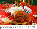 Christmas cake, roast chicken, christmas 15637793