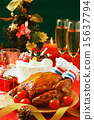 Christmas cake, roast chicken, christmas 15637794