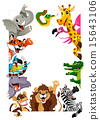 Funny group of Jungle animals 15643106