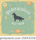Golden Retriever vintage typography poster 15643556