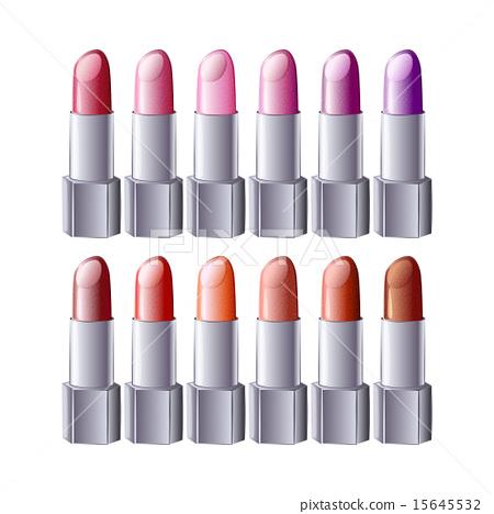 lipstick set - vector illustration 15645532