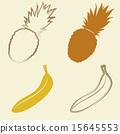 banana and pineapple icons - vector illustration 15645553