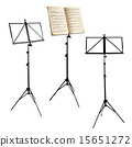 music stands isolated with clipping path 15651272