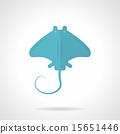 黄貂鱼 蓝色 单调 15651446