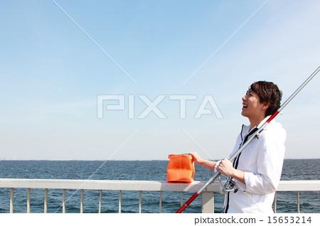1男(休閒釣魚戶外休閒愛好假日投擲釣魚海釣) 15653214