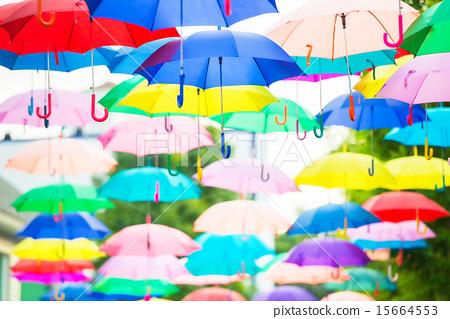 Colorful umbrellas 15664553