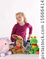 Girls with stuffed animals 15666414