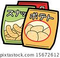 矢量 垃圾食品 小吃 15672612