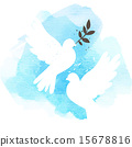 doves, blue, background 15678816
