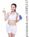 Studio fitness portrait isolated on white background 15685217