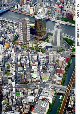 Tokyo view like a miniature 15694145