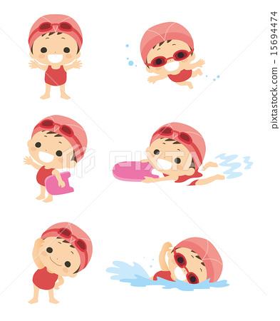 Swimming girls 15694474