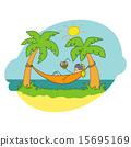 Girl in a hammock, Doodle 15695169