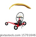 Paraglider or Paramotor on A White Background 15701646