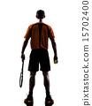 silhouette tennis player 15702400