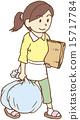 homemaker, throwing away trash, vector 15717784