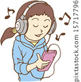 music, listening, headphone 15717796