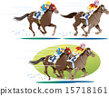 vector, horseracing, horse racing 15718161